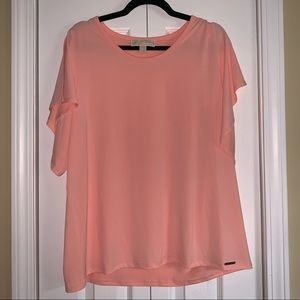 Coral Aplit Sleeve Top by Michael Kors XL
